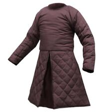 Beautiful Medieval Renaissance Full Sleeves Gambeson in Brown Colour SCA-LARP