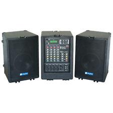mobile DJ PA Party Musik Anlage USB SD Mp3 Player Verstärker Mixer Boxen 150w