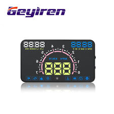 E350 OBD2 HUD car display 5.8 inch screen Easy Plug and Play Overspeed Alarm
