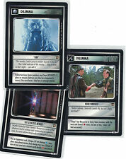 Star Trek ccg Decipher 1st the Motion Pictures: 3x rare libre elección Lot