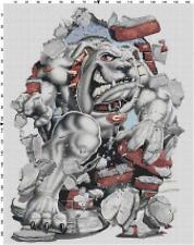 Georgia Bulldog Mascot counted cross stitch pattern