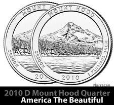 2010 D US Mount Hood - Oregon  America The Beautiful Quarter Dollar - 2 BU Coins
