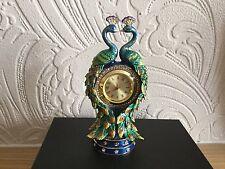 Juliana Enameled Treasured Trinket/Pill  Peacock Clock - New & Boxed