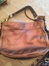 COACH Copper Bronze Metallic Leather Bag Handbag Purse #12671 Zoe Hobo
