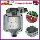 IP66 Waterproof Outdoor 13Amp 1 Gang Storm Switched Socket Garden Outside Use