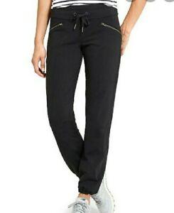 Athleta Metro Slouch Black Pants/Jogger Women's Large Petite