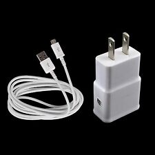 Home AC Wall Charger + USB Micro Cable for Samsung Galaxy Tab 4 A 7.0 8.0 Tablet