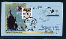 97800) AUA Olympiade So-LP Wien - Athen 13.8.2004, Aerogramme Spanien