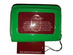 Buxton RFID Dublin Wizard Wallet , Dublin Gree Patent Leather