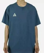 Nike Acg Short Sleeve Logo Tshirt Teal Blue Colorway # Bq7342-474 Sz Xs Nwt