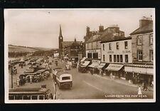 Scotland Ayrshire LARGS from pier head Ross's Macari Dunlop coach 1951 RP PPC