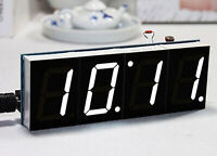 White Digital LED Electronic Microcontroller Clock Screen Display Time DIY