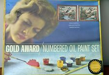 NEW VTG Gold Award Paint By Number Oil Painting Kit 'Mountain Grandeur'
