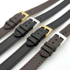 Super long Ladies XXL Leather Watch Strap Band 10mm 12mm 14mm Black Brown C023