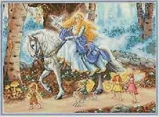 Counted Cross Stitch Kit FAIRYTALE Princess Horse Dimensions Gold Collection