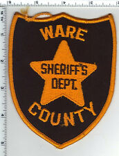 Ware County Sheriff's Dept. (Georgia) Shoulder Patch - new from the 1980's