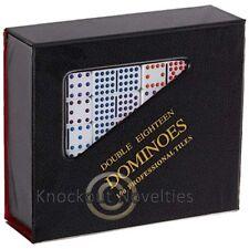 Double 18 White Vinyl Case Domino Set Game Board Play