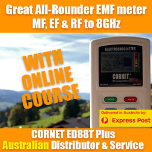 CORNET ED88Tplus Triple Field EMF meter with exposure graph - WITH ONLINE COURSE