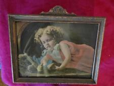 """ANTIQUE WOOD FRAME AND PICTURE 18"""" X 14"""""""