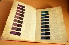 RONHER Teintures sur filés de COTON 792 ECHANTILLONS Teinture Nuancier Ca 1940