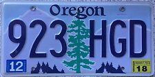 GENUINE American Oregon  Pine Tree Graphic USA License Number Plate 923 HGD
