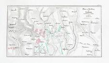 1857 Lubino Valutina Gora Russia Napoleon Russlandfeldzug Kupferstich-Plan