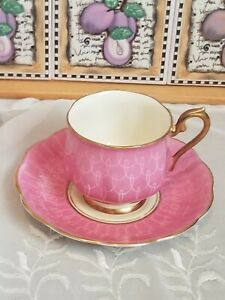 Vintage Royal Albert Pink with White Swirls Tea Cup and Saucer