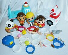 Pop On Pal Lot Spin Master 2 Ice Cream Truck Ambulance dog People Accesories