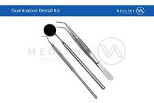 Dental Examination Hygiene Cleaning kit Explorer 9 with London College Tweezer
