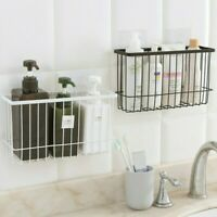 Not Hurt Wall Kitchen Bathroom Wire Shelf Basket Bin Storage Rack Mesh Organizer