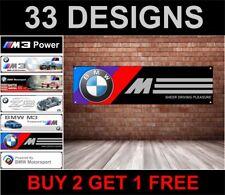 BMW M power Motorsport workshop garage PVC banner sign e30, X5, M3, M5 530d Z4