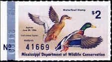 MISSISSIPPI #10 1985 STATE DUCK MALLARDS by Lotti Fulton