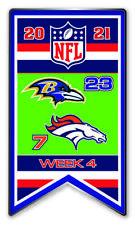 2021 Semaine 4 Bannière Broche NFL Baltimore Ravens Vs.Denver Super Bol