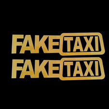2pcs Car Sticker FAKE TAXI JDM Drift Turbo Hoon Race Funny Vinyl Decal 20x5cm