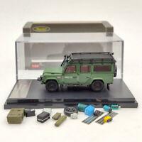 1:64 Land Rover Defender 110 Diecast Models SUV Luggage Rack Bullet hole Master