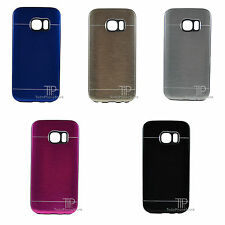 1 FUNDA NEGRA METAL Rigida Cromada Samsung Galaxy S7 EDGE