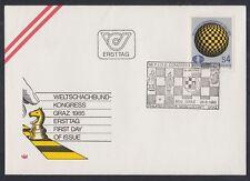 Österreich Austria 1985 FDC Mi.1823 Schach Chess FIDE [af346]