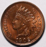 1902 INDIAN HEAD CENT - BU UNC - With CARTWHEELING MINT LUSTER!