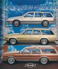 CHEVROLET STATION WAGON 1982 Stati Uniti Mercato Opuscolo Cavalier Malibu Impala Caprice