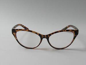 Betsey Johnson CAT EYE Reading Glasses Readers Tortoise NEW