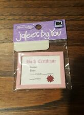 Jolees Stickers By You~ Dimensional Embellishment~ Girl Birth Cert~ RARE