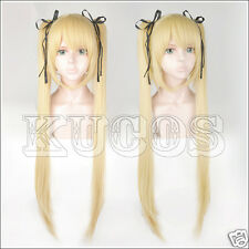 Dead Or Alive Marie Rose Game Cosplay Costume Wig (No black rope) +Free Cap