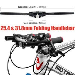 PROMEND MTB Bicycle Collapsible Handlebar Folding Bike Handlebar Fit 25.4 31.8mm