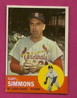 1963 TOPPS # 22 CARDS CURT SIMMONS EX-MT CARD (INV# A2590)