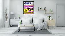 James Brown Oakland - Vintage Retro Concert Poster-A4-A1