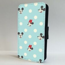 Mickey Minnie Mouse Face Polka Dots FLIP PHONE CASE COVER for IPHONE SAMSUNG