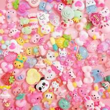 20 PCS Mixed Kawaii Resin Cabochons Cute Decoden Craft Charms Flatbacks Pastel