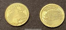 100 Replica Miniature Gold Coins 1907 St Gaudens Eagle Party Favors Birthday $|