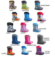 KIDS WELLIES, Wellington Boots for Boys and Girls Outdoor Play RAIN SNOW WINTER