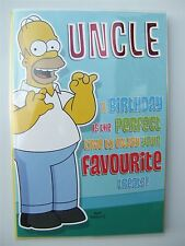 Simpsons homer birthday card for an UNCLE by Hambledon - HLW127
